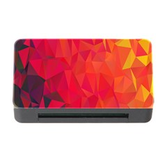 Triangle Geometric Mosaic Pattern Memory Card Reader With Cf by Nexatart