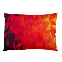 Triangle Geometric Mosaic Pattern Pillow Case (two Sides)