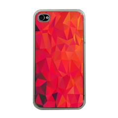Triangle Geometric Mosaic Pattern Apple Iphone 4 Case (clear) by Nexatart