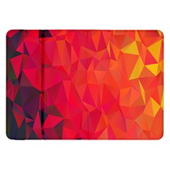 Triangle Geometric Mosaic Pattern Samsung Galaxy Tab 8 9  P7300 Flip Case