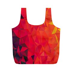 Triangle Geometric Mosaic Pattern Full Print Recycle Bags (m)