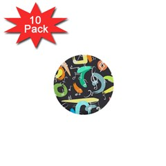 Repetition Seamless Child Sketch 1  Mini Buttons (10 Pack)