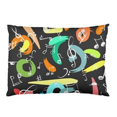 Repetition Seamless Child Sketch Pillow Case (two Sides)