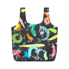 Repetition Seamless Child Sketch Full Print Recycle Bags (m)  by Nexatart