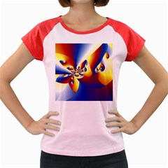 Mandelbrot Math Fractal Pattern Women s Cap Sleeve T-shirt by Nexatart