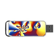 Mandelbrot Math Fractal Pattern Portable Usb Flash (one Side) by Nexatart