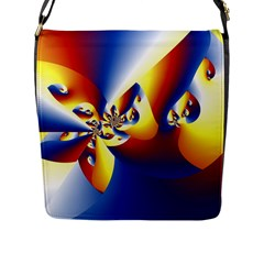 Mandelbrot Math Fractal Pattern Flap Messenger Bag (l)  by Nexatart