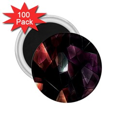 Crystals Background Design Luxury 2 25  Magnets (100 Pack)