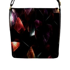 Crystals Background Design Luxury Flap Messenger Bag (l)