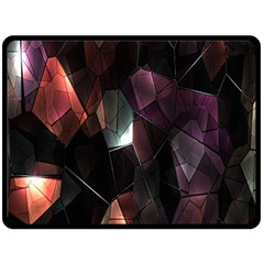 Crystals Background Design Luxury Double Sided Fleece Blanket (large)