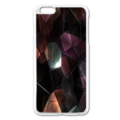 Crystals Background Design Luxury Apple Iphone 6 Plus/6s Plus Enamel White Case