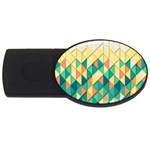 Background Geometric Triangle USB Flash Drive Oval (2 GB) Front