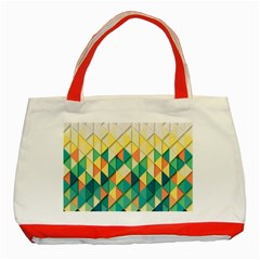 Background Geometric Triangle Classic Tote Bag (red)
