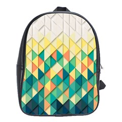 Background Geometric Triangle School Bag (large) by Nexatart
