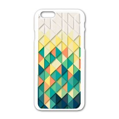 Background Geometric Triangle Apple Iphone 6/6s White Enamel Case