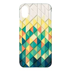 Background Geometric Triangle Apple Iphone X Hardshell Case