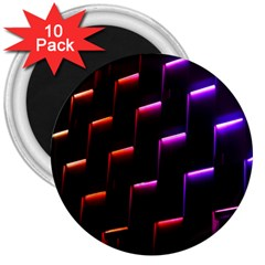 Mode Background Abstract Texture 3  Magnets (10 Pack)