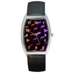 Mode Background Abstract Texture Barrel Style Metal Watch by Nexatart