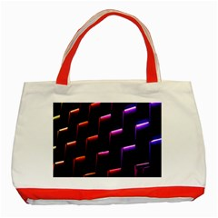 Mode Background Abstract Texture Classic Tote Bag (red) by Nexatart