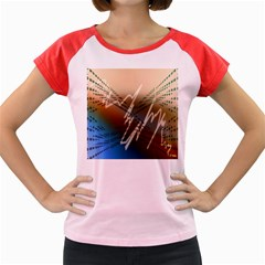 Pop Art Edit Artistic Wallpaper Women s Cap Sleeve T-Shirt