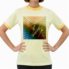 Pop Art Edit Artistic Wallpaper Women s Fitted Ringer T-Shirts