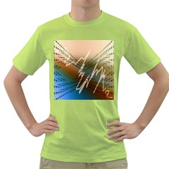 Pop Art Edit Artistic Wallpaper Green T-Shirt