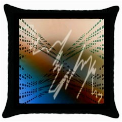 Pop Art Edit Artistic Wallpaper Throw Pillow Case (Black)