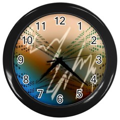 Pop Art Edit Artistic Wallpaper Wall Clocks (Black)