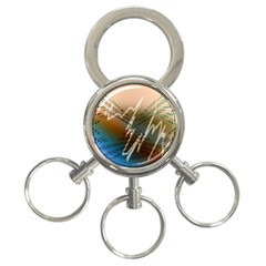 Pop Art Edit Artistic Wallpaper 3-Ring Key Chains