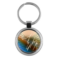 Pop Art Edit Artistic Wallpaper Key Chains (Round)