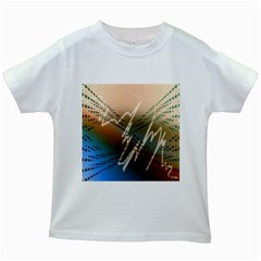 Pop Art Edit Artistic Wallpaper Kids White T-Shirts