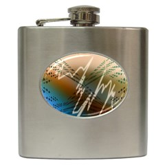 Pop Art Edit Artistic Wallpaper Hip Flask (6 oz)
