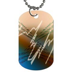 Pop Art Edit Artistic Wallpaper Dog Tag (Two Sides)