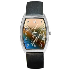Pop Art Edit Artistic Wallpaper Barrel Style Metal Watch