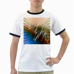 Pop Art Edit Artistic Wallpaper Ringer T-Shirts