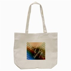 Pop Art Edit Artistic Wallpaper Tote Bag (Cream)