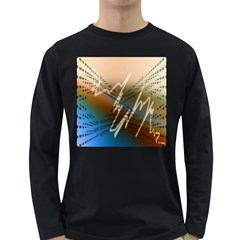 Pop Art Edit Artistic Wallpaper Long Sleeve Dark T-Shirts