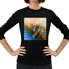 Pop Art Edit Artistic Wallpaper Women s Long Sleeve Dark T-Shirts