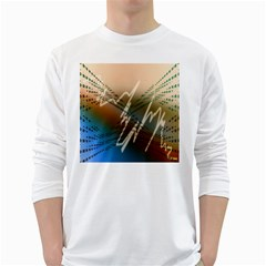 Pop Art Edit Artistic Wallpaper White Long Sleeve T-Shirts