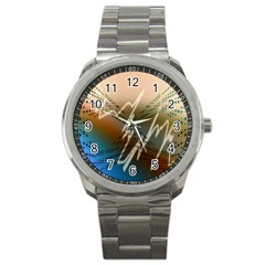 Pop Art Edit Artistic Wallpaper Sport Metal Watch
