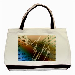 Pop Art Edit Artistic Wallpaper Basic Tote Bag