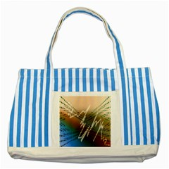 Pop Art Edit Artistic Wallpaper Striped Blue Tote Bag