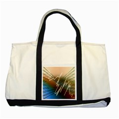 Pop Art Edit Artistic Wallpaper Two Tone Tote Bag