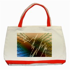 Pop Art Edit Artistic Wallpaper Classic Tote Bag (Red)