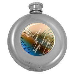 Pop Art Edit Artistic Wallpaper Round Hip Flask (5 oz)