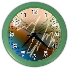 Pop Art Edit Artistic Wallpaper Color Wall Clocks