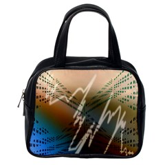 Pop Art Edit Artistic Wallpaper Classic Handbags (One Side)