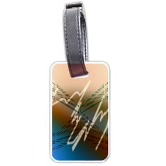 Pop Art Edit Artistic Wallpaper Luggage Tags (One Side)