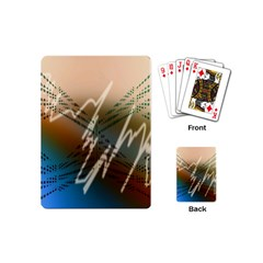 Pop Art Edit Artistic Wallpaper Playing Cards (Mini)