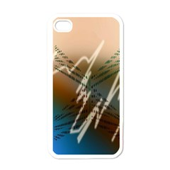 Pop Art Edit Artistic Wallpaper Apple iPhone 4 Case (White)
